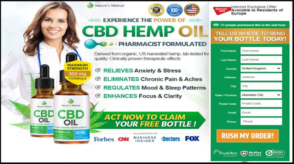 Natures Method CBD Oil United Kingdom