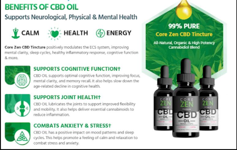 Core Zen CBD Benefit