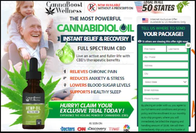 Cannaboost Wellness CBD Oil Buy