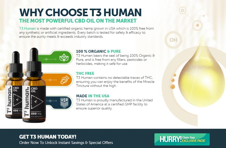 T3 Human CBD Oil