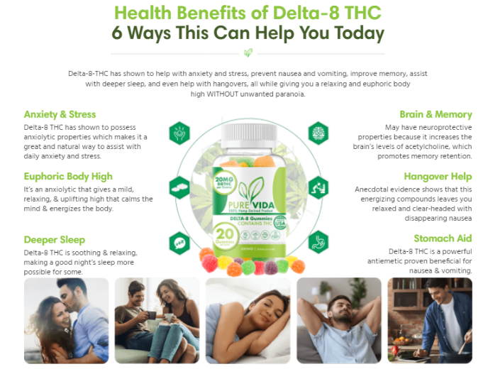 Pure Vida Delta-8 Gummies Benefits