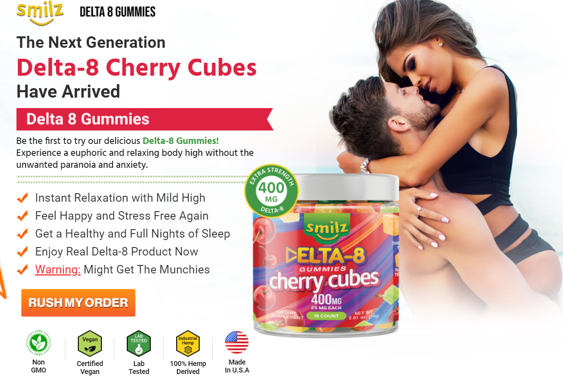 Smilz Delta 8 Gummies Cherry Cubes price